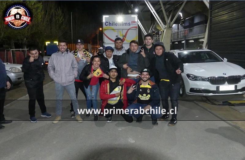 (Video) El chascarro de Primera B Chile con los hinchas de Coquimbo que llegaron a Talca