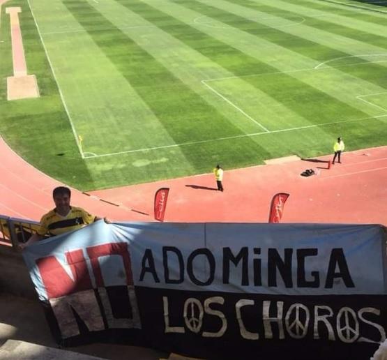¿Quien dijo democracia? El lienzo prohibido que los hinchas de Coquimbo tuvieron que sacar del Francisco Sánchez Rumoroso